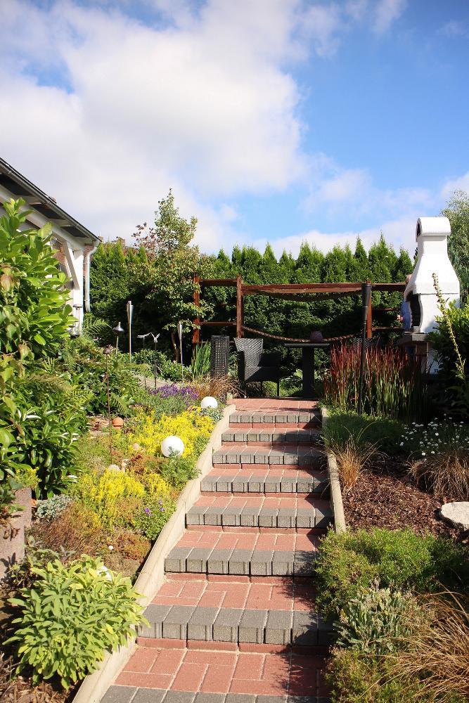 Treppe zur Terrase