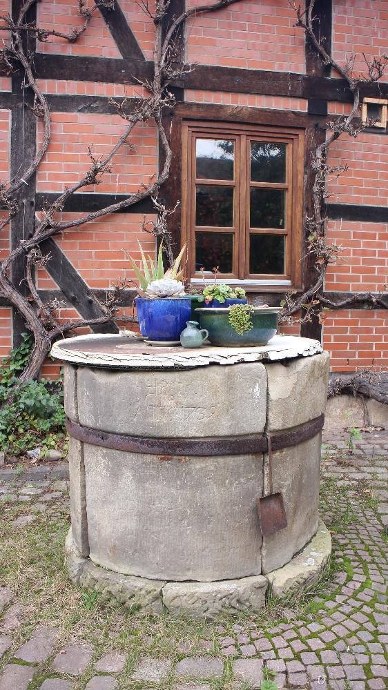 Brunnen vor dem Haus